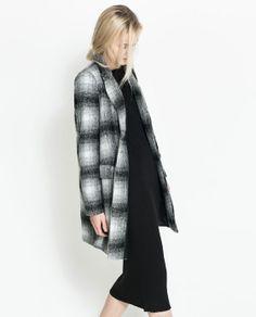 CHECKED COAT from Zara