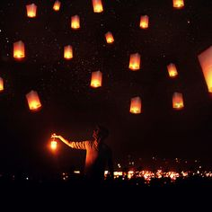 floating lantern festivals.  I want to know how to do this!  My favorite part of Tangled