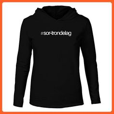 Idakoos - Hashtag Sor Trondelag - Cities - Hooded Long Sleeve T-Shirt - Cities countries flags shirts (*Partner-Link)