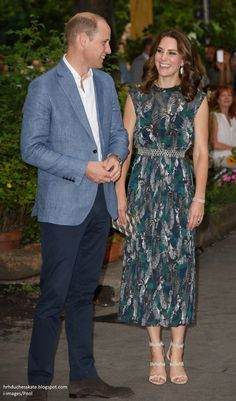hrhduchesskate: Tour of Germany, Day 2, July 20, 2017-The Duke and Duchess of Cambridge attended a reception at Clärchens Ballhaus,  a ballroom with vintage mirrors