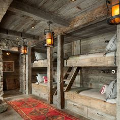 All I Need is a Little Cabin in the Woods Photos) Bunk room cabin bedroom