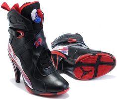 asneakers4u.com Air Jordan 8 High Heels Black Purple