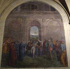 Andrea del Sarto - Liberazione di un'indemoniata - affresco - 1509-1510 - Chiostrino dei Voti - Chiesa della Santissima Annunziata - Firenze.