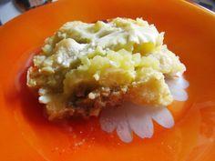 Цветная капуста с фаршем под сырным соусом бешамель