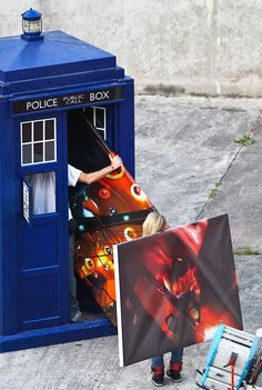 themedusacascade:  rory-pond:  triskaidecagon:  Possibly the most soul-crushing picture I have ever seen.  WHAT WHAT no no no no no  Well OBVIOUSLY the Doctor keeps extra canvases of the TARDIS interior in his TARDIS. He gets lonely when he leaves the TARDIS, so he takes them with him. They are just cleaning the canvases up…. right?