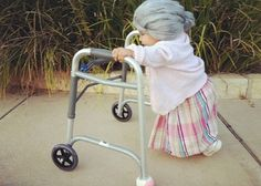 Baby Granny with her stroller