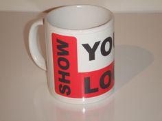 Branded mugs. Get your logo, company name printed onto a mug.