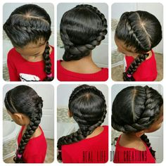 Hair styles for little girls. Long curly hair styles. Real Life Doll Creations by A.MCKNIGHT.