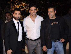 Bollywood Stars Aamir Khan Akshay Kumar & Salman Khan