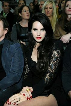 Lana Del Rey at the versace show AW13/14