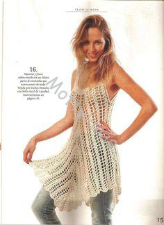 CARAMELO ARDIENTE es... LA PRINCESA DEL CROCHET: vestido crochet charted