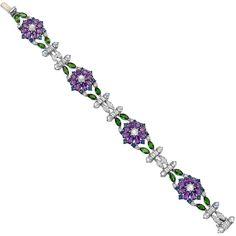 Raymond C. Yard ~ Amethyst, Sapphire and Diamond Bracelet