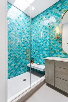 Mermaid Master Bath | Fireclay Tile