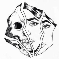 Dark Art Drawings, Pencil Art Drawings, Art Drawings Sketches, Tattoo Sketches, Tattoo Drawings, Cool Drawings, Arte Lowrider, Dibujos Tattoo, Skull Art