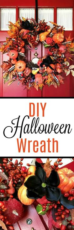 DIY Halloween Wreath #DIY #Halloween #Wreath - Simple Sojourns