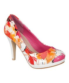 This Coral Apple Pump is perfect! #zulilyfinds