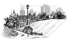 Drawing on Location, 2011 by Elizabeth Baddeley, via Behance