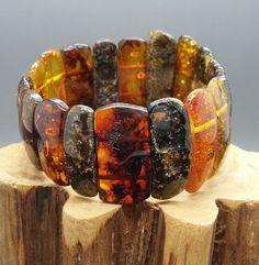 31 grams Genuine Big Natural Baltic Amber Cognac Bracelet No Enhancement
