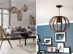 This pendant light is totally DIY. Knock off Decor #DIY Knock Off Pottery Barn