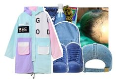 """I get more neck than a collar"" by pinksemia ❤ liked on Polyvore featuring Stussy, American Apparel and adidas"