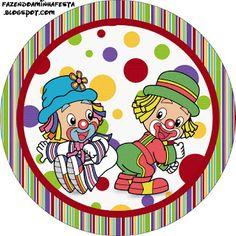 Patati e Patata – Kit Completo com molduras para convites, rótulos para guloseimas, lembrancinhas e imagens! |Fazendo a Nossa Festa Circus Birthday, Circus Theme, Circus Party, Circus Cakes, Clown Party, Cute Clown, Arts And Crafts, Paper Crafts, Send In The Clowns