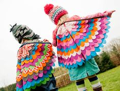 beautiful handmade dress-up wings for costume and playtime. #costume #dressup #kids #wings
