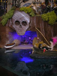 Halloween Village Display / Dept. 56 Halloween Display Skull Cove Village Display, via Hot Wire Foam Factory Customer Gallery