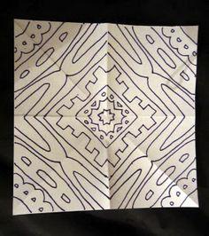 Mrs. Art Teacher!: Radial name tutorial - Totally awesome art project on radial symmetry for Grade 6 (through 10?).