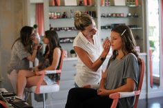 At Blushington Beauty and Makeup Lounge in West Hollywood, Calif., clients can choose from seven makeup styles, illustrated in a book in which the same model wears each one. Photo: Monica Almeida/The New York Times