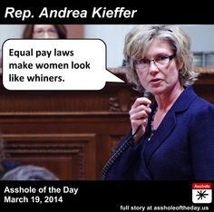 Andrea Kieffer, Asshole of the Day for March 19, 2014.  This is fucked up.  WTF Andrea!!!