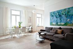 Inspiración para sala de estar. Cuadro con un toque de color. #decoracion #inspiracion