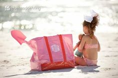 Isabel's Beach Bag from The Beaufort Bonnet Company- Monogrammed- design it yourself!