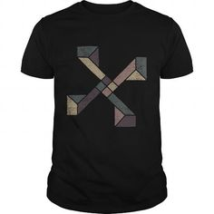 Abstract Distressed Geometric with Earth Tones