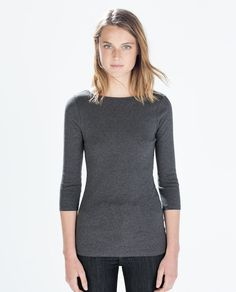 Image 1 of ORGANIC COTTON T-SHIRT from Zara