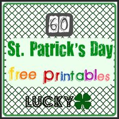 Tons of cute St. Patrick's Day printables -- for the home, for kids, for gifts
