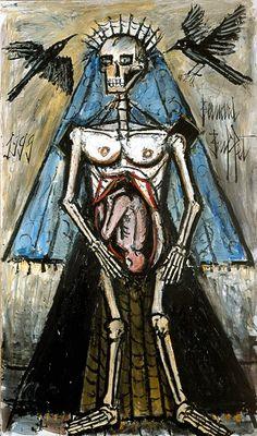 La Mort #5, 1999 by Бернар Бюффе. Экспрессионизм. символическая живопись