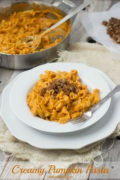 Creamy Pumpkin Pasta - Oh Sweet Basil