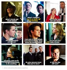 Arrow: a very serious show about a superhero. [gifset] - quote collection