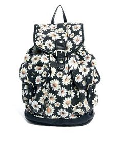 New Look Daisy Print Backpack
