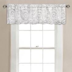 Lush Decor Keila Valance White | Overstock.com Shopping - The Best Deals on Valances