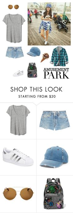 """Amusement park fashion"" by kotnourka ❤ liked on Polyvore featuring Gap, RE/DONE, adidas, Mudd, Givenchy, Marc Jacobs, L.L.Bean, amusementpark and 60secondstyle"