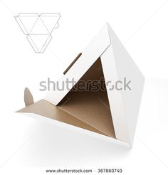 Small Pyramid Box with Die Cut Template