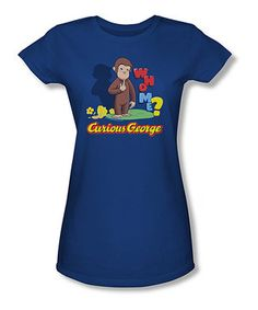 Loving this Royal Blue 'Curious George' Tee - Women on #zulily! #zulilyfinds