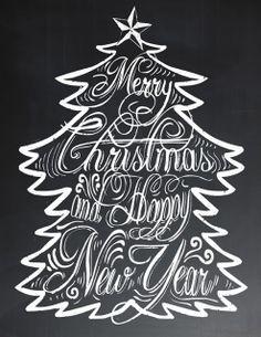 Free Holiday Chalkboard printable