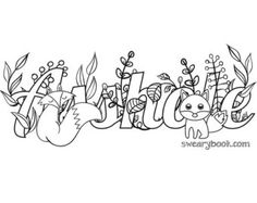Adult Swear Words Coloring Book Pages Printable