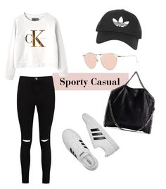 """Sporty everyday wear"" by saga-johansson on Polyvore featuring Topshop, Calvin Klein, Boohoo, adidas and STELLA McCARTNEY"