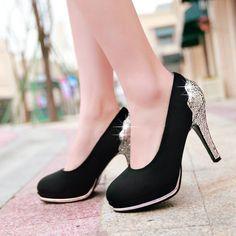 Sequined Women Platform Pumps High Heels Shoes Woman