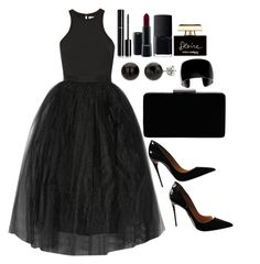 """Untitled #3514"" by natalyasidunova ❤ liked on Polyvore featuring Elizabeth and James, Christian Louboutin, John Lewis, Chanel, MAC Cosmetics, NARS Cosmetics and Dolce&Gabbana"