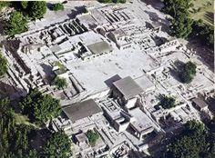 Palazzo di Cnosso, ca 1700-1400 a.C., civiltà minoica (periodo neopalaziale). Veduta aerea
