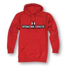 IH International Harvester Logo Red Men's Pullover Hoodie Product Details…